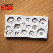 New arrival Button shaped Christmas decoration silicone mold fondant sugar cooking tools bow mould DIY cake decoration SQ16229