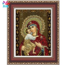 2017 Hot sale DIY 5D Diamond Painting Embroidery Our Lady Cross Stitch Home Decor Crafts MAY9_35(China)
