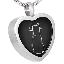 5/10/20 Pcs/Lot Wholesale Top Pet Cat Beautiful Design Stainless Steel Cremation Jewelry Pendant Necklace Unisex