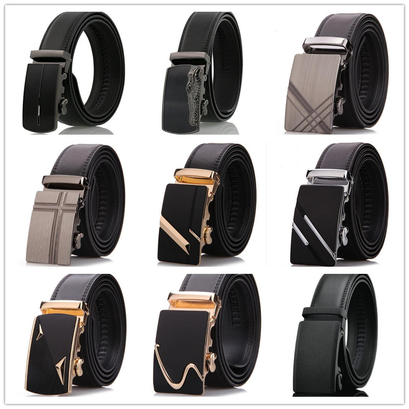HTB1yoG2ewDD8KJjy0Fdq6AjvXXaO - LannyQveen brand fashion cow Leather Belt men's Automatic belts for men alloy buckle business quality wholesale free shipping