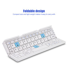 B.O.W HB199 Bluetooth Wireless Foldable Keyboard Folding Rechargeable Keyboards For IOS Android Windows with Tablet Phone Stands