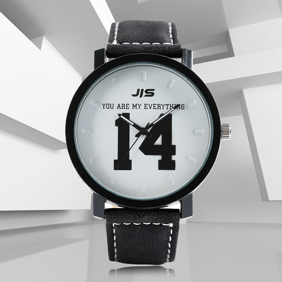 YOU ARE MY EVERYTHING Series Men Watch JIS Unique Number 1314 Quartz Wristwatch Young People Fashion Dress Clock Male Ulzzang 2018 (24)