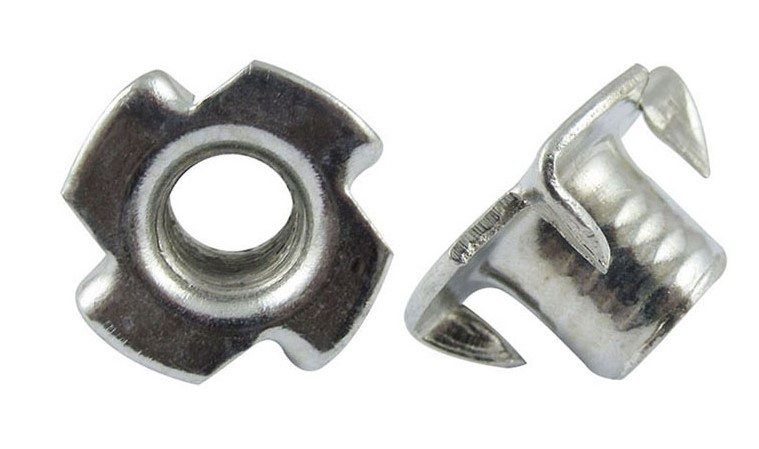 M8 x 11 FOUR PRONG TEE NUTS GALVANISED OR SELF COLOUR BLACK HIGH QUALITY T NUT