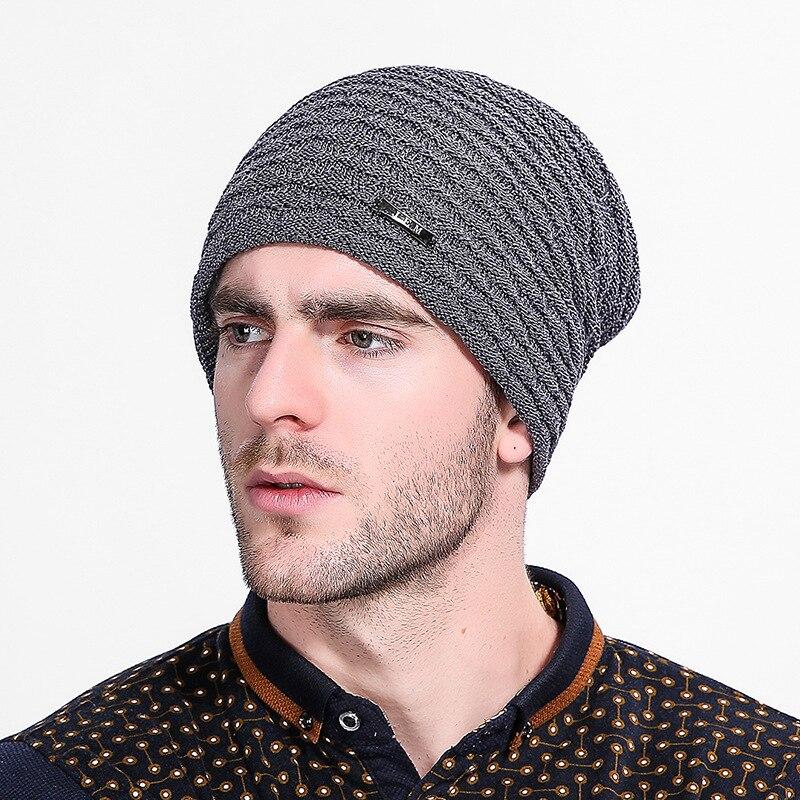 2017 winter mens hat Beanie Bonnet tuque knitted hats cap men Brand Beanies Outdoor Sports Hats chapeu Gorros masculinoÎäåæäà è àêñåññóàðû<br><br><br>Aliexpress