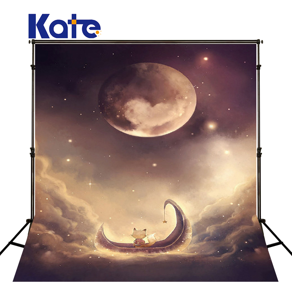 KATE Photography Backdrops 10x10ft Cartoon Forest Background Children Tapestry Backdrop Photo Studio Moon Fairy Backdrop<br>