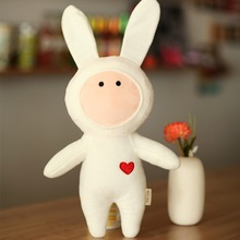 The rabbit plush toys, Children's toy doll, Stuffed animals, Filling and plush toys,Stuffed Toys - Plush Animals(China)