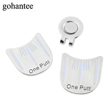 gohantee 2017 Outdoor Alloy Golf Alignment Aiming Tool Golf Ball Marker With Magnetic Hat Clips Golf Accessories One Putt Design