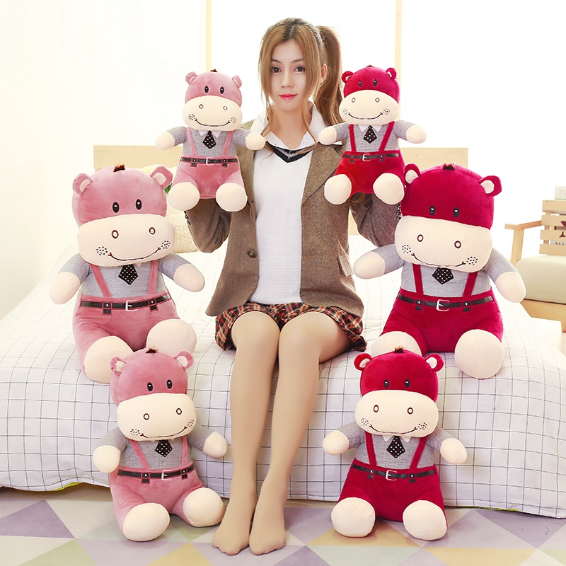 60cm Hot Selling Pink Red Cattle Plush Toy Cute Lovely Catttle Ox Toy Soft Stuffed Plush Toy Juguetes De Peluche<br>