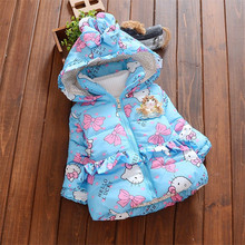 BibiCola Baby Snowsuit girls down parkas coat outerwear Clothes Infant Girls Winter Warm Coat Jacket Children Thicken Clothes
