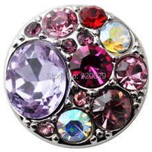 D01043 OEM ,ODM welcome hot sale  metal snap pink button for 18mm snap  button bracelet