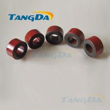 Tangda Iron powder cores T68-2D OD*ID*HT 18*9*10 mm 11.4nH/N2 10uo Iron dust core Ferrite Toroid Core Coating Red gray