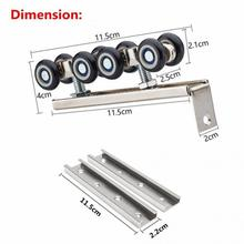 Hardware Slide door roller Side-mounted sliding door wooden door track slide pulley hanging rail household hardware