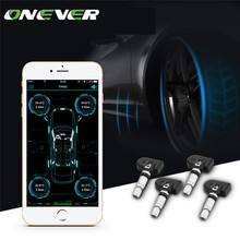 Onever Wireless Bluetooth 4.0 Car Digital Tire Pressure Alarm Monitor System TPMS with 4 Internal Sensors Support Phone APP(China)
