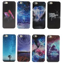 Wholesale Promotion space/universe Design Hard Plastic Back Phone Case Cover For Apple iPhone 5 5S SE