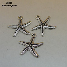 Buy RONGQING 50Pcs/lot Vintage Silver Starfish Charms 27x28mm Ocean Animal Fish Pendant Accessories Jewelry for $7.89 in AliExpress store