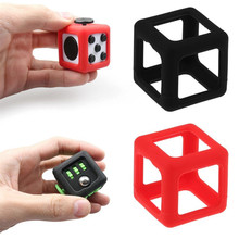 Hot Fidget Cube Protective Silicone Prism Frame Case Suit For Your Lovely Cube