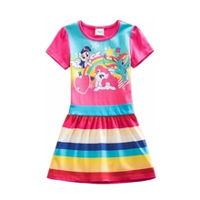 Baby girl dress my little pony cotton dress girl wear kids clothes children summer dress baby girls clothes cute pony  SH9113