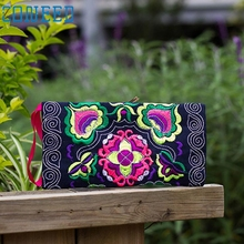 May 31 High Quality  Women Ethnic Handmade Embroidered Wristlet Clutch Bag Vintage Purse Wallet