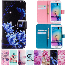 Art Painting Owl Flower Wallet Flip Leather Cover Soft Case For Samsung Galaxy S5 Neo S6 S7 edge S3 i9300i i9300 S4 mini S8 Plus