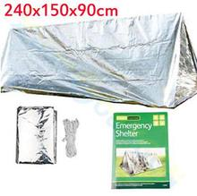Disposable Emergency Shelter Tent Outdoor Ultralight Portable Camping SOS Shelter Mylar Emergency Tube Tent First Aid Gear(China)