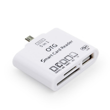 5in1 Smart OTG Card Reader Micro USB Adapter Connection Kit 2.0 Hub Cable Mobile Phone Cables Accessories For Samsung Android