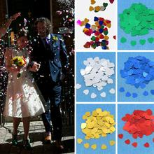 500pcs/Pack DIY Satin Heart Shaped Fabric Artificial flower petals Wedding Party Decor Scatter Confetti Wsdding Supplies(China)