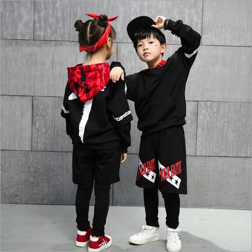 GARYDUCK 2018Childrens Sports Suit Boy Hooded Tracksuit Kids Hip Hop Dancewear Girls Spring Clothes Cool Fashion Camouflage<br>