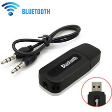 Stereo Music Bluetooth Dongle Receiver Kit Wireless USB Bluetooth Receiver with 3.5mm Jack Audio Cable For Smartphones