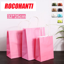 32 * 25 + 11 (pink) wrap bag paper made portable clothing gift bag sweater cotton garment bag(China)