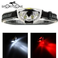 High Quality 1200 Lumens Headlight 3 Modes 2 Red LED+4 White LED Tail Light Waterproof Head light led Headlamp by 3*AAA