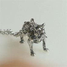 RONGQING 10pcs/lot Metal Alloy Dog Necklace Wedding Necklace Gift Idea(China)