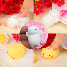 Anti-stress Fun toys Cute Mochi Squishy Cat Squeeze Healing Fun Kids Kawaii Toy Stress Reliever Decor Gift for adults Wholesale