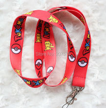 Wholesale 10pcs Cartoon Japanese anime Lanyards Neck Strap Keys Camera ID Card red Lanyard Mobile Phone Neck Straps H-206(China)