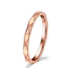 2MM Width Never darken Stainless Titanium Steel SLim Pinky Ring Wedding Band for Women Fashion Jewelry Wholesale Store