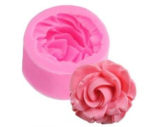 1 pc 3D Rose Flower Fondant Silicone Mold Mould 3.5x3.5x1.6cm Baking Cake Cookies Form Chocolate Soap Sugar Craft Cupcake E160