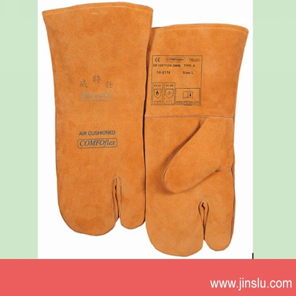 Size 14 Quality Leather Safety Gloves Working Protection Safety Welding Gloves For welding<br><br>Aliexpress