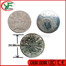 Arcade amusement park 25*1.85mm game machine coin token Stainless steel token coin made in China game token
