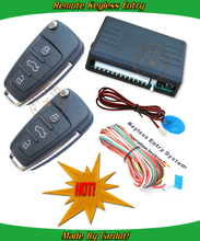 flip key keyless entry system,remote lock or unlock,LED indicator,trunk release,learning code,window up output,CE passed