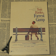 5 Sizes Famous Movie Tom Hanks Forrest Gump Retro Vintage Poster Kraft Paper Painting Wall Sticker Art Craft Home Deco