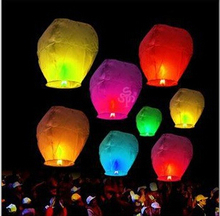 500Pcs/set Love Heart Sky Lantern Flying Wishing Lamp Hot Air Balloon Kongming Lantern Party Favors 85CM For Birthday Party