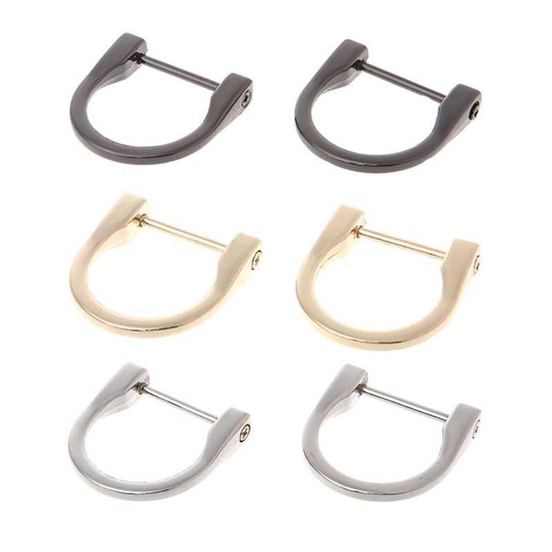 c3580335ece9 2.5cm 1.8cm Metal D Ring Buckle Accessories New Detachable Openable  Removable Handbag Purse