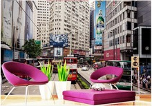 Custom photo wallpaper 3D stereoscopic Hong Kong street 3d mural wallpaper Home Decoration Non woven wallpaper
