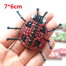 DIY garment auxiliary materials nail pear ladybirdl patch diamond seven - star ladybug clothing decoration animal design patches(China)