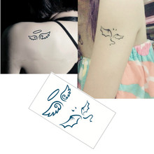 Angel wings Flash Tattoo Hand Sticker 10.5*6cm Small Waterproof Henna Beauty Temporary Body Tattoo Sticker Art FREE SHIPPING