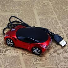 Brand new 1600DPI Mini Car shape USB optical wired mouse innovative 2 headlights mouse for desktop computer laptop Mice(China)