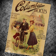Vintage poster bicycle advertising retro art painting antique print picture old photo bar pub cafe home wall sticker 42x30cm