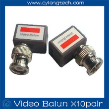 10pair/lot Camera CCTV BNC Passive Video Balun Transceiver Cable, Coaxial Adapter, Free Shipping Dropshipping(China)