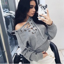 Spot 2017 Europe Amazon eBay winter explosion sources deep V sexy Strapless chest bandage sweater MX006