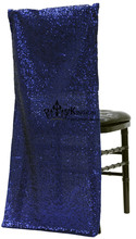 100pcs Royal Blue Color Sequin Fabric Chiavari Chair Jacket \ Chair Cover(China)