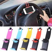 Crouch Mini Car Steering Wheel GPS Navigation Holder Bracket Mount Support Car Phone Holder iPhone 6 7 6S 5S SE Holder